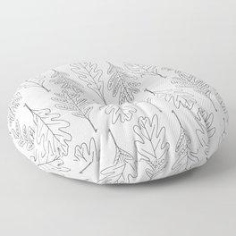 Falling Oaks Pattern Floor Pillow