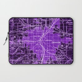 Denver Colorado map, year 1958, purple filter Laptop Sleeve