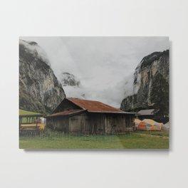 Camping Grounds of Lauterbrunnen, Switzerland Metal Print