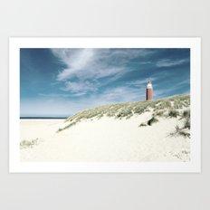 lighthouse Eierland Art Print
