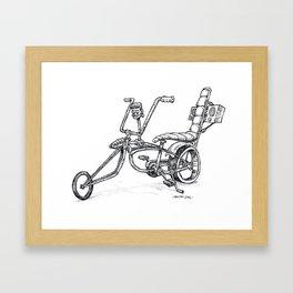 FrankenBike! Framed Art Print