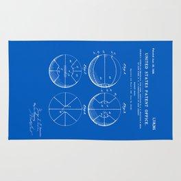 Basketball Patent - Blueprint Rug