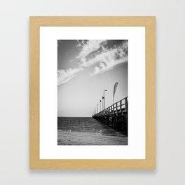 Jetty in Black and White Framed Art Print