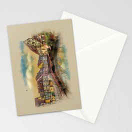 panorama city of Colmar France Stationery Cards