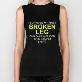 I Survived Broken Leg Biker Tank