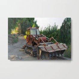 Rusted wreck bulldozer Metal Print