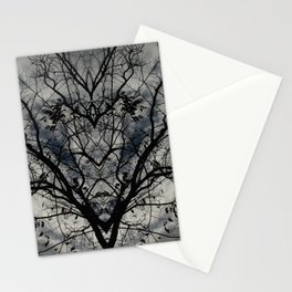 Mirrored Trees 3 Stationery Cards