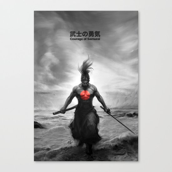 Courage of Samurai Canvas Print