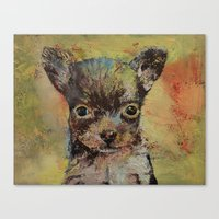 chihuahua Canvas Prints featuring Chihuahua by Michael Creese