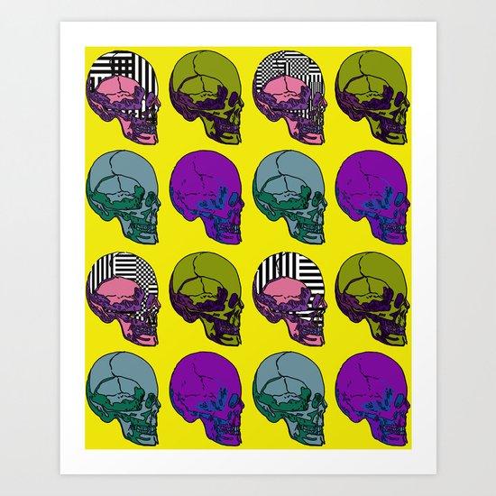 Pop go the Skulls Art Print