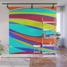 Waves of Colour Wall Mural
