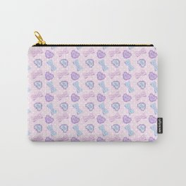 Pretty Baby Brand Whore Allover Pastel Pink Carry-All Pouch