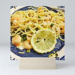 Lemon Shrimp Linguine Mini Art Print