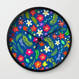 Hawaiian Garden Wall Clock