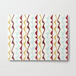 Jagged Stripes Metal Print