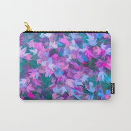 Autumn Leaves (swirling pink, purple & blue) Carry-All Pouch
