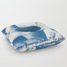 Petals by the Sea [Cyanotype Blue] Floor Pillow