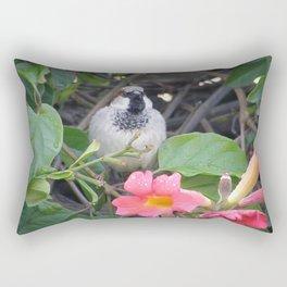 Sparrow in the Vine Rectangular Pillow