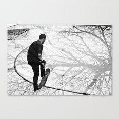Skate black Canvas Print