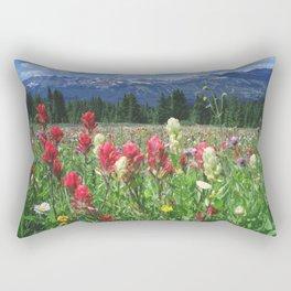 Wildflowers above Breckenridge, Colorado Rectangular Pillow