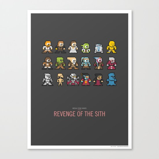 Mega Star Wars: Episode III - Revenge of the Sith Canvas Print