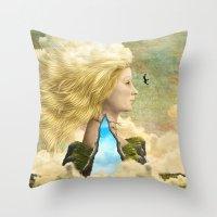 aurora Throw Pillows featuring Aurora by Diogo Verissimo