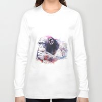monkey island Long Sleeve T-shirts featuring Monkey by Cristian Blanxer