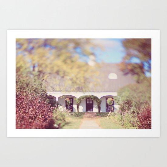 Queeny Park Barn Art Print