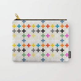 Cross Pattern Carry-All Pouch
