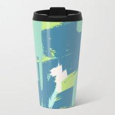 Green expressive Metal Travel Mug