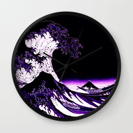 The Great Wave : Purple Wall Clock