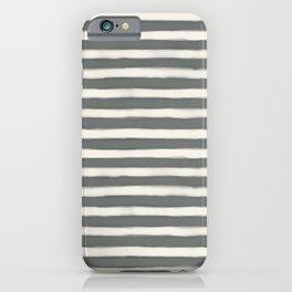 geo brush stripe large-sage iPhone Case
