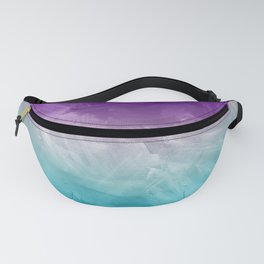 Purple Aqua Teal Ombre Pattern Watercolor Painting Fanny Pack
