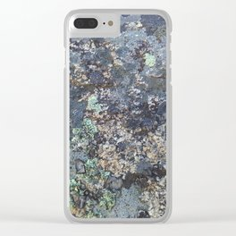Mossy Rock Clear iPhone Case
