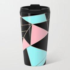 Abstraction . 5 geometric pattern Metal Travel Mug