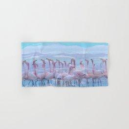 Flamingos #7, fun design Hand & Bath Towel