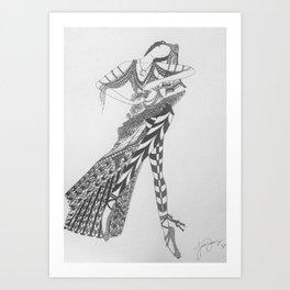 Dancer Series - Basquette Art Print
