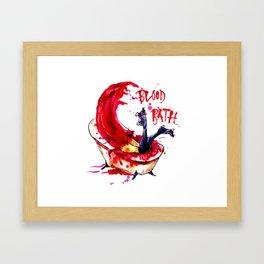 Blood Bath Roller Derby Framed Art Print