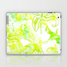 Green Flowers Laptop & iPad Skin