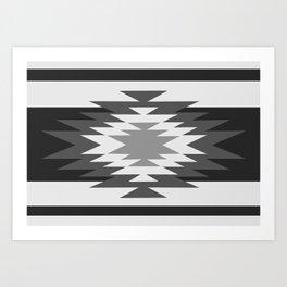 Aztec - black and white Kunstdrucke