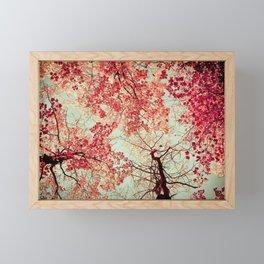 Autumn Inkblot Framed Mini Art Print