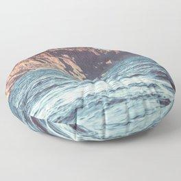 Beautiful sealandscape vintage filtered Floor Pillow