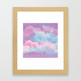 Pink cloud Framed Art Print