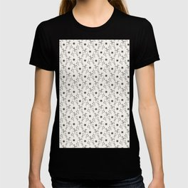 Hand drawn abstract Christmas reindeer pattern T-shirt