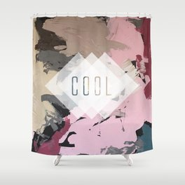 Petrol blue - cool Shower Curtain