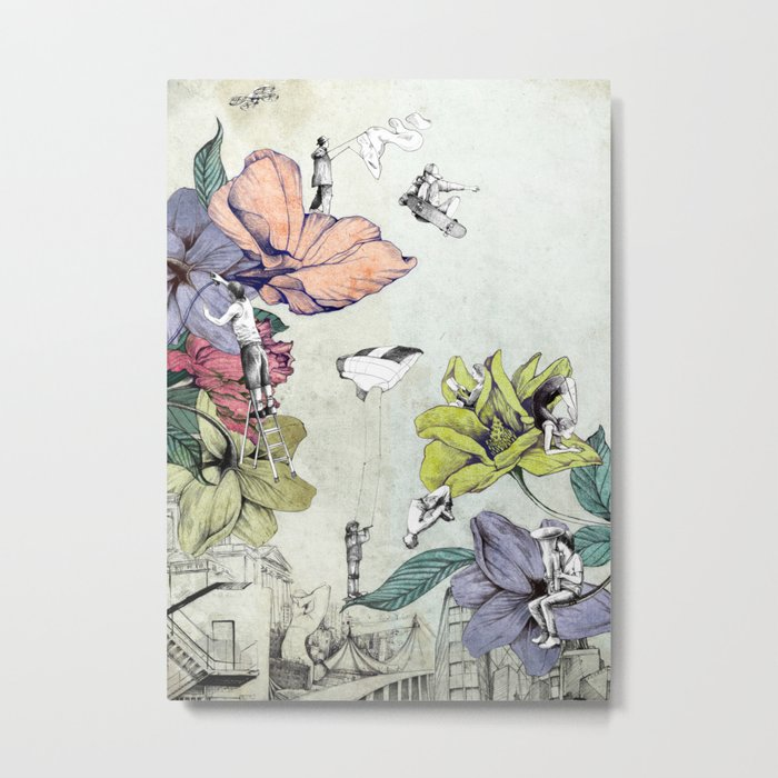 Flower forest Metal Print