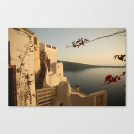 Tranquility of Santorini Canvas Print