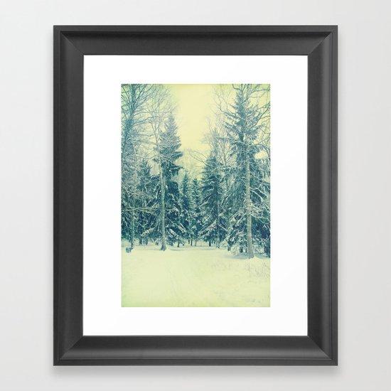 Once upon a December Framed Art Print