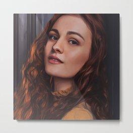 Sophie Skelton - Celebrity Art Metal Print