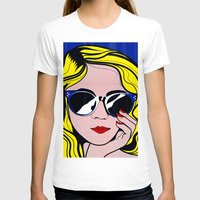 lichtenstein T-shirts featuring Pop Art Glamour Girl by Alli Vanes